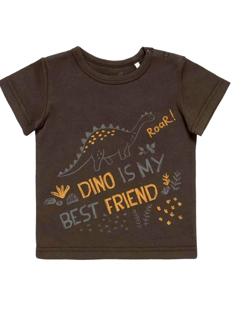 Artie - Dino Best Friend Grey Baby and Boy T Shirt - Stylemykid.com