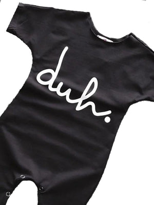 Duh! Black Shortie Baby Romper Playsuit - Stylemykid.com
