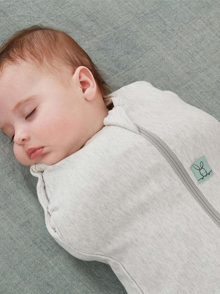 ergoPouch - Grey Marle - TOG 1 Cocoon Swaddle Bag - Organic Newborn to 6 Months - Stylemykid.com