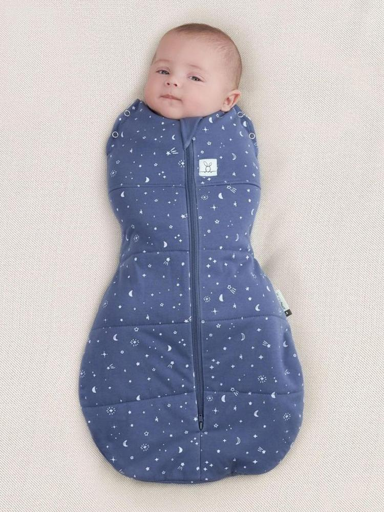 ergoPouch - Night Sky - TOG 2.5 - Cocoon Swaddle Bag - Organic - Newborn to 12 Months - Stylemykid.com