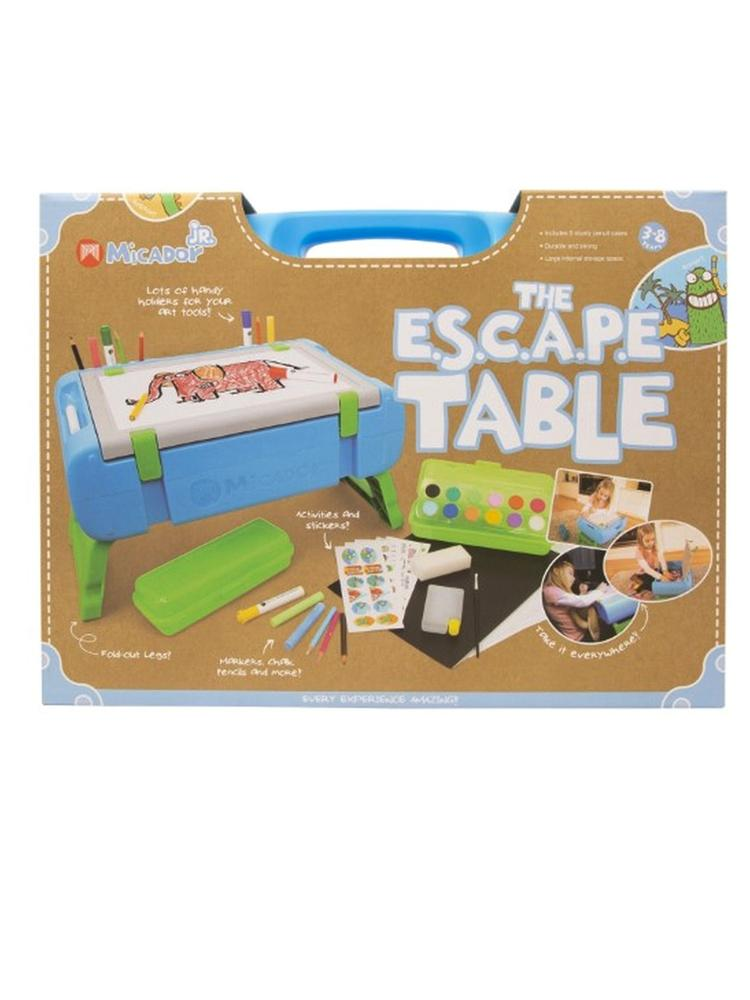 Micador jR. - The E.S.C.A.P.E Table - Multifunctional Travel Art Table with Art Supplies - Stylemykid.com