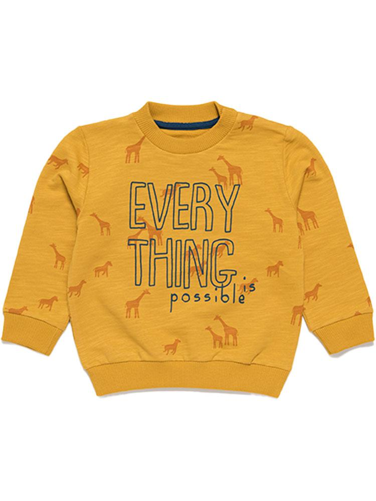 Artie - Everything is Possible Mustard Sweatshirt - Stylemykid.com