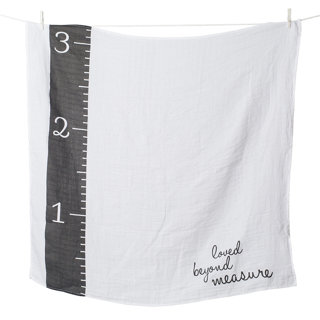Loved Beyond Measure Milestone - Newborn Swaddle Muslin and Cards Set - Stylemykid.com