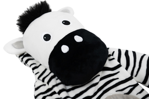 Potwells - Zebra Luxury Long Hot Water Bottle - Stylemykid.com