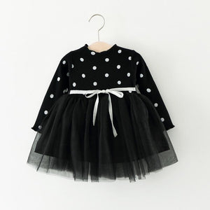 Black Girls Polka Dot Tutu Dress - Stylemykid.com
