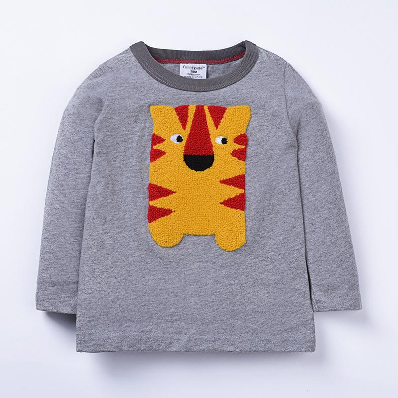 Tiger Jumper - Grey with Tiger Design - Stylemykid.com