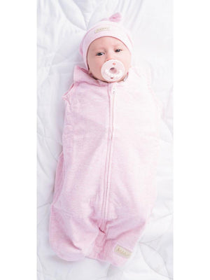 Juddlies Dream Swaddle Baby Sleeping Bag - Breathe EZE Fleck Collection - Pink - Stylemykid.com