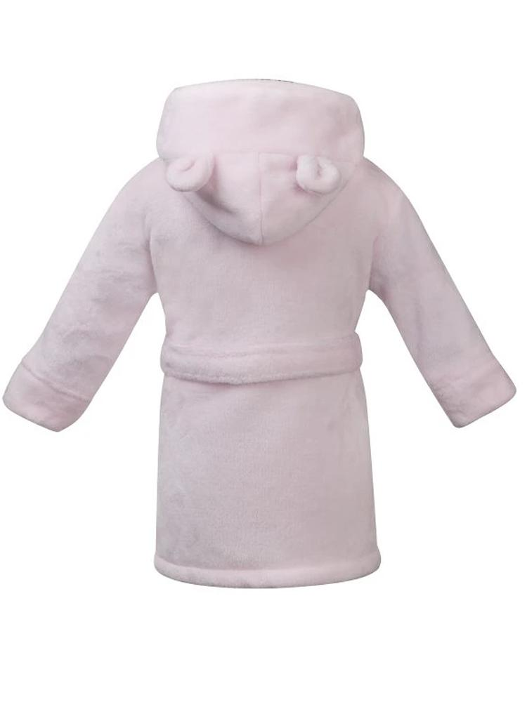 Pink Teddy Bear Ears Childrens Hooded Dressing Gown - Stylemykid.com
