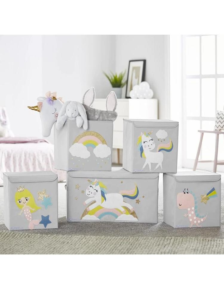 Potwells - Clouds & Rainbow Storage Box - Stylemykid.com