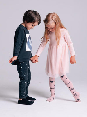 Artie - Starry Starry Night - Dark Blue & White French Terry Trousers - Stylemykid.com