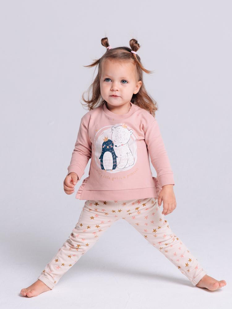 Artie - Princess Bear - Girls Pink French Terry Sweatshirt - Stylemykid.com
