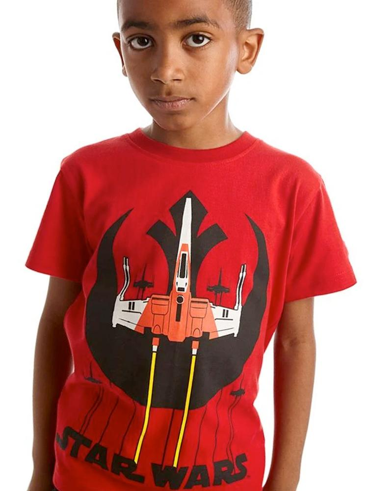 Star Wars Rebel Squadron Red and Black T-Shirt - 3 - 7 years