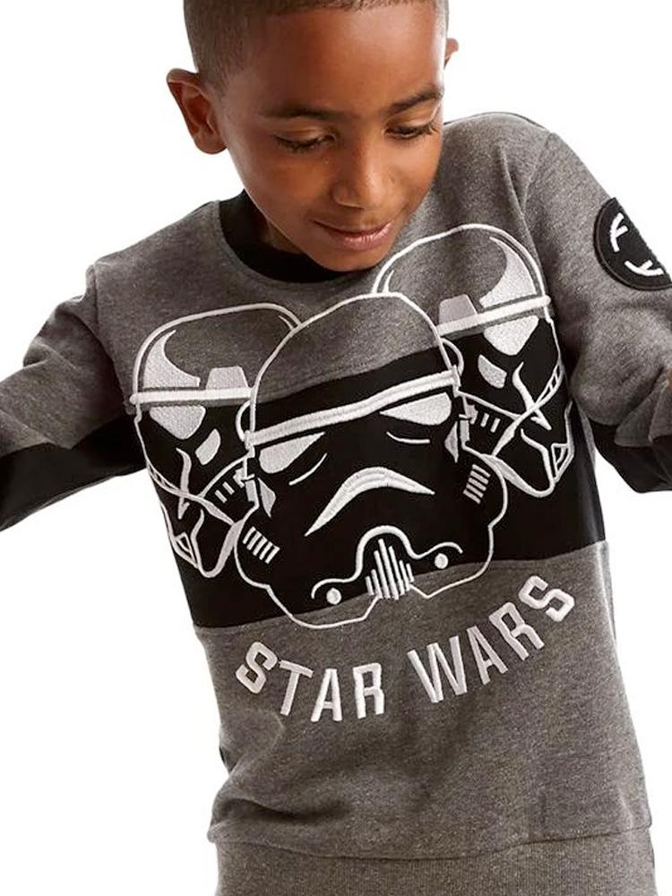 Star Wars Ultimate Stormtrooper Grey, Black and White Sweatshirt - 3 - 7 Years - Stylemykid.com