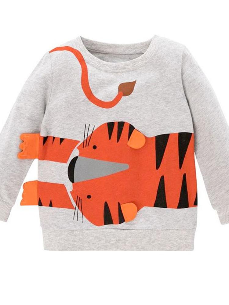 Boys Tiger Sweatshirt with Stand Out Tiger Ears & Feet