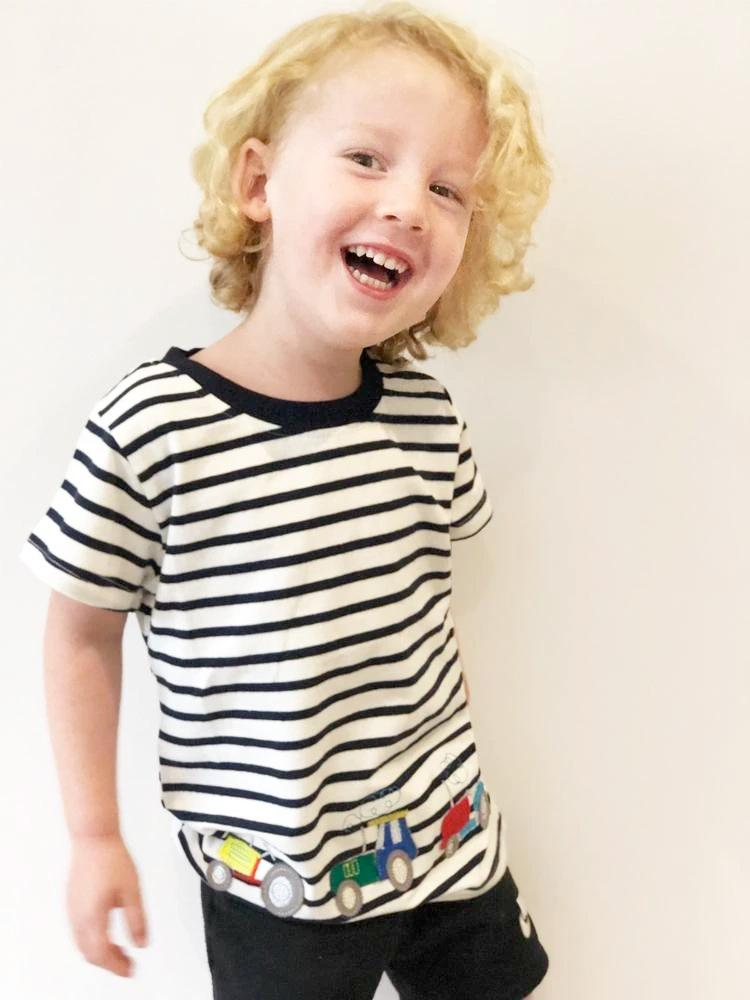Tractor Stripes Boys T-Shirt - Stylemykid.com