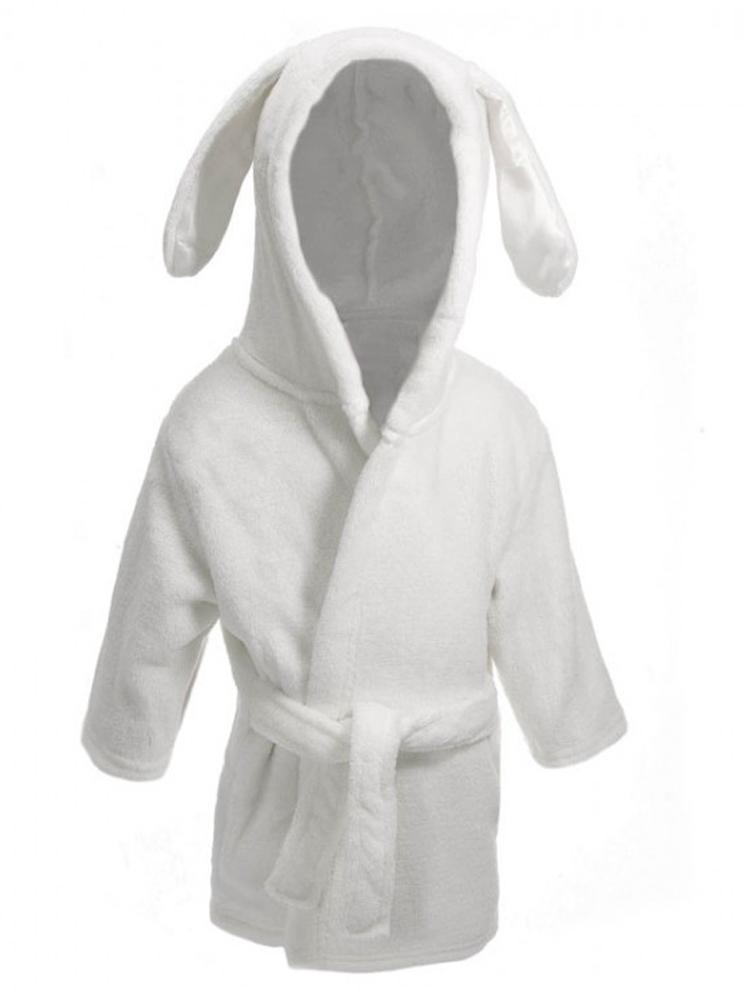 White Bunny Ears Children's Hooded Dressing Gown - 6 Months to 2 Years - Stylemykid.com