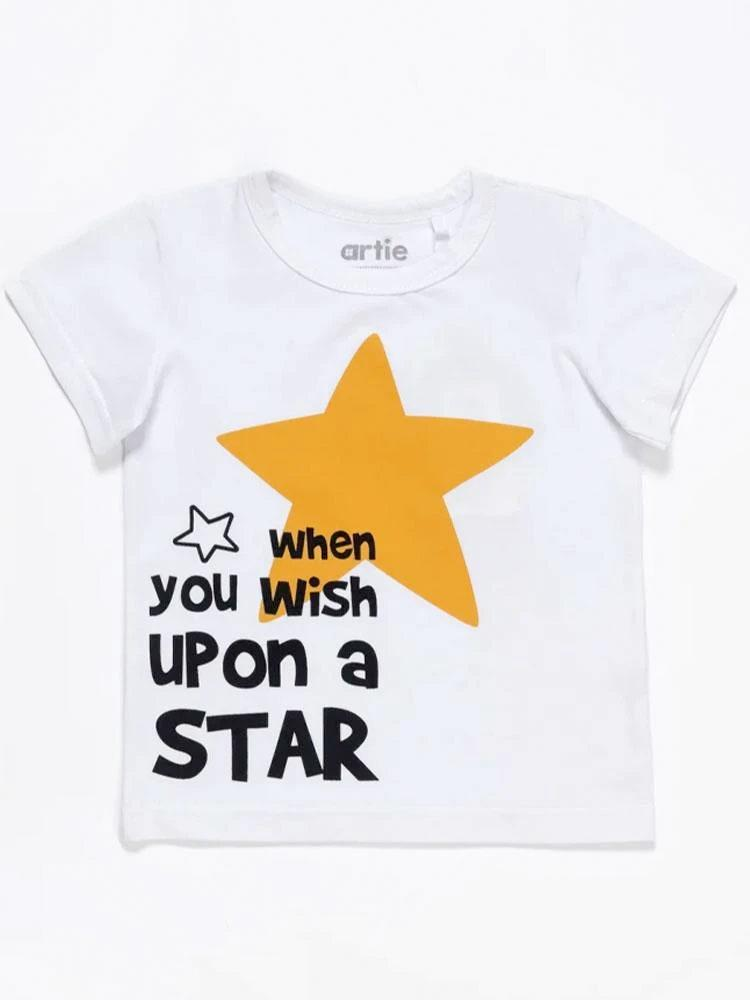 Artie - Wish Upon a Star White T Shirt - Stylemykid.com