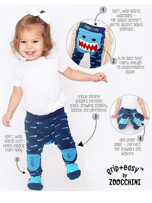 Zoocchini - Baby Leggings & Socks Set - Grip+Easy™ Comfort Crawlers - Flippy the Frog - Stylemykid.com