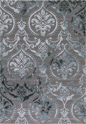 Thema Large Damask Teal - Gray