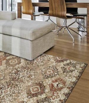 BLAIR DISTRESSED IKAT BEIGE/IVORY