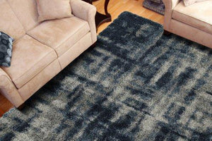 BOREALIS PLUSH ABSTRACT SHAG BLUE/GREY