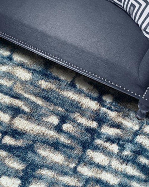 BOREALIS PLUSH ABSTRACT SHAG BLUE/WHITE