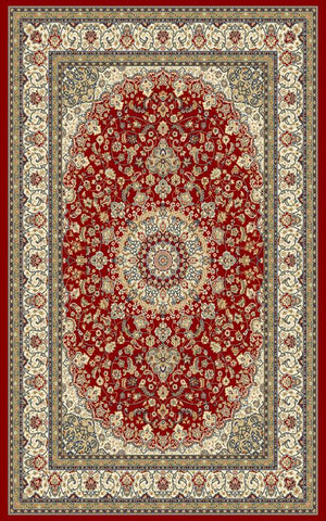 Ancient Garden 57119 Red/Ivory