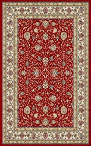 Ancient Garden 57120 Red/Ivory