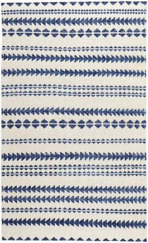 Genevieve Gorder Scandinavian Stripe Natural Blue