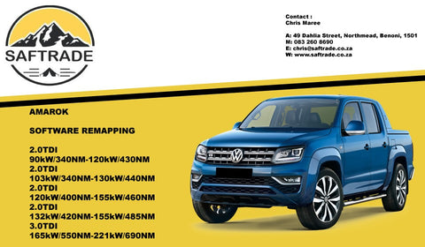 Volkswagen Amarok 2.0 TDI Software Remap - Saftrade