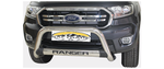 Ford Ranger Oval Stainless Steel Nudge Bar - Saftrade