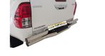 Toyota Hilux Rear Step Bumper Stainless Steel - Saftrade