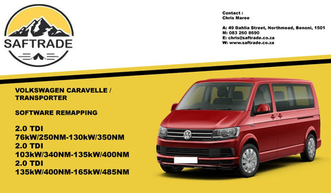 Volkswagen Caravelle / Transporter ECU Software Remap - Saftrade
