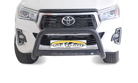 Toyota Hilux Black Oval Nudge Bar - Saftrade