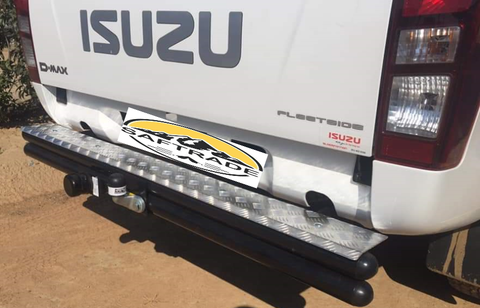 Isuzu Tube Step Bumper + Tow Bar - Saftrade
