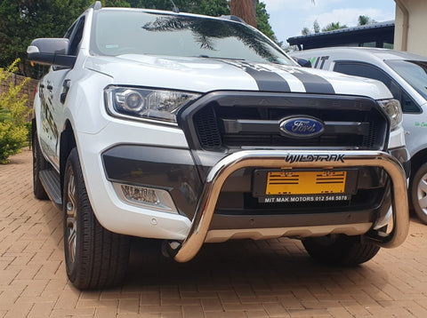 Ford Ranger PDC Nudge Bar Stainless Steel - Saftrade