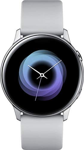 Samsung Galaxy Watch Active - 40mm, IP68 Water Resistant, Wireless Charging, SM-R500N International Version (Android/iOS) (Silver) (Renewed)
