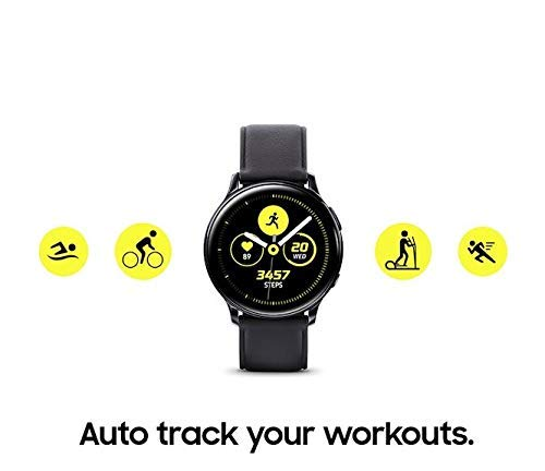 Samsung Galaxy Watch Active2 (40mm), Black (Stainless Steel - LTE Unlocked) - SM-R835USKAXAR  (US Version & Warranty) (Renewed)