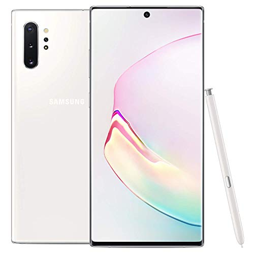 Samsung Galaxy Note 10+, 256GB, Aura White - Fully Unlocked (Renewed)