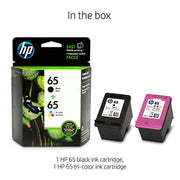 HP 65 T0A36AN#140 2 PACK Ink Cartridges Black, Tri-color N9K01AN, N9K02AN