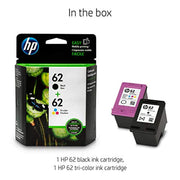 HP 62 N9H64FN#140 2 Ink Cartridges Black, Tri-color C2P04AN, C2P06AN