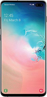 Samsung Galaxy S10+ Factory Unlocked Phone with 128GB (U.S. Warranty), Prism White (Renewed)