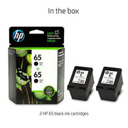 HP 65 1VU22AN#140 2 Ink Cartridges Black N9K02AN