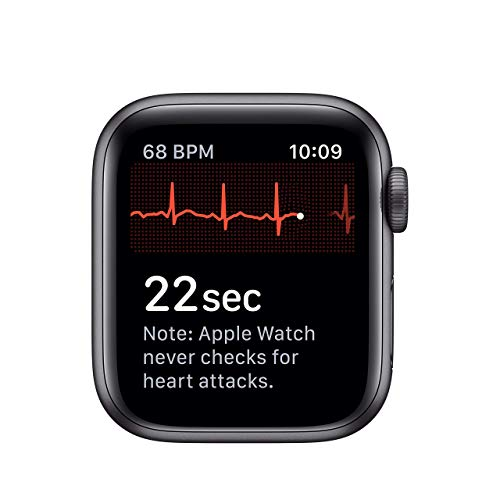 Apple Watch Series 5 (GPS, 40MM) - Space Gray Aluminum Case with Black Sport Band (Renewed)