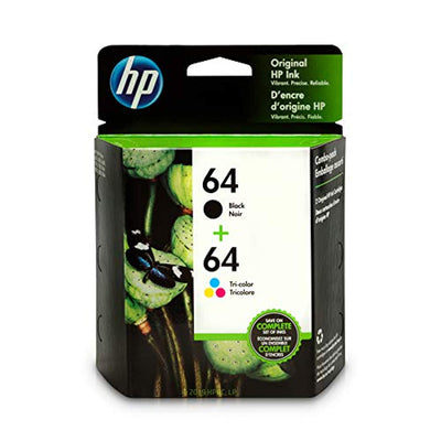 HP 64 X4D92AN#140 2 Ink Cartridges Black, Tri-color N9J90AN, N9J89AN