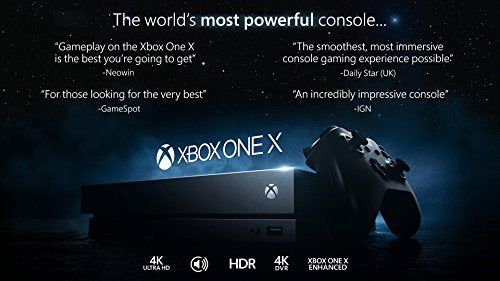 Microsoft Certified Pre-Owned Xbox One X 1TB, 4K Ultra HD Gaming Console, Black