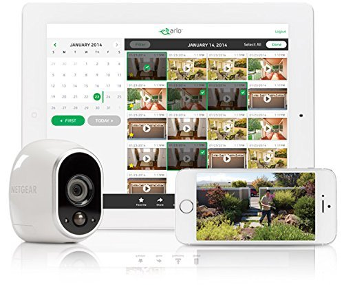 Arlo - Wireless Home Security Camera System with Motion Detection | Night vision, Indoor/Outdoor, HD Video, Wall Mount | Cloud Storage Included | 4 camera kit (VMS3430)