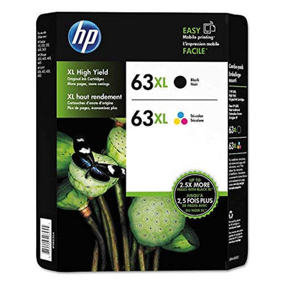 HP 63XL L0R44BN#140 Black/Color Combo Ink Cartridges 2 pk