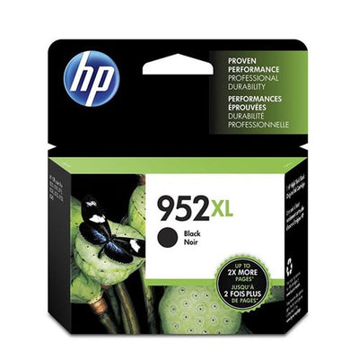 HP 952XL N9K29BN#140 High Yield Black Original Ink Cartridge 2Pk