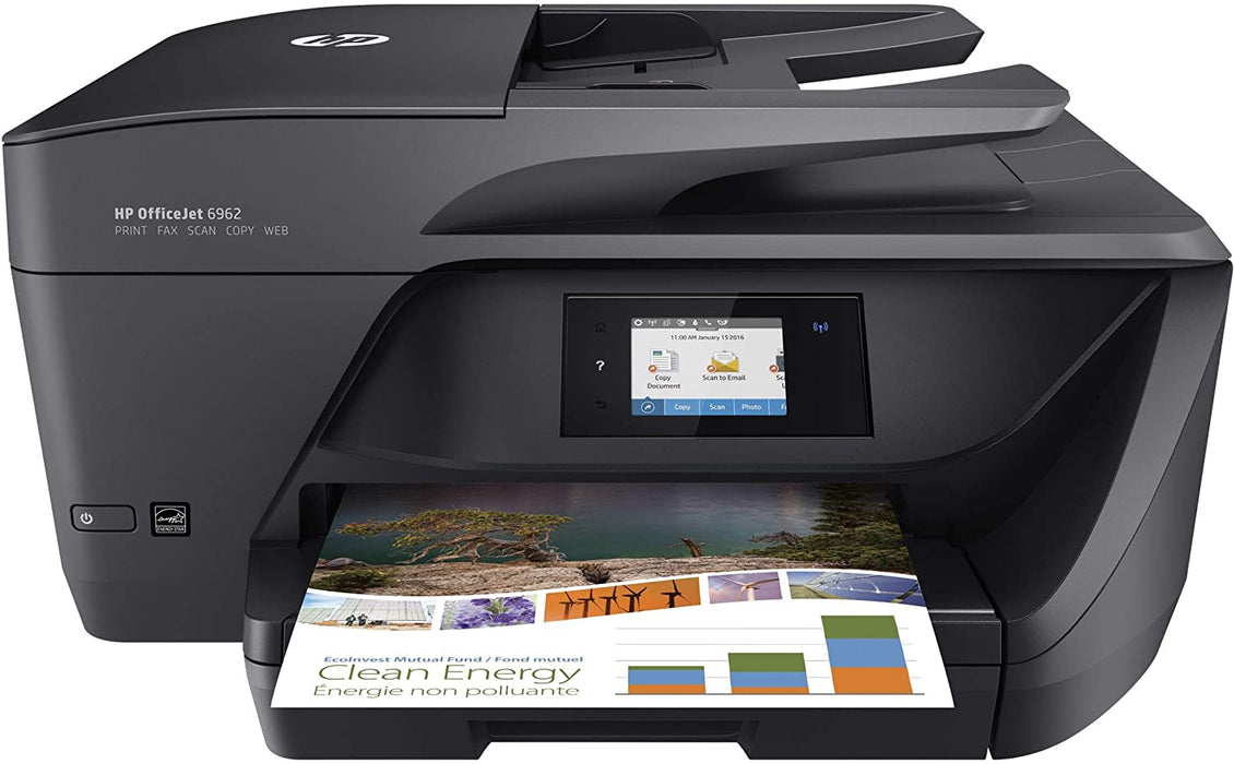HP OfficeJet 6962 Wireless All-in-One Color Inkjet Printer with Wi-Fi and Mobile Printing, T0G25A (Renewed)